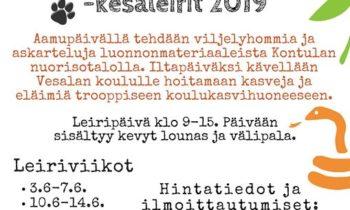 Kumpulan koulukasvitarhan lisäksi leirejä myös Itä-Helsingissä.